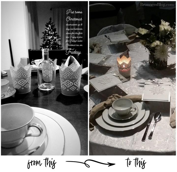 Ladies Christmas Tea Tablescape Idea