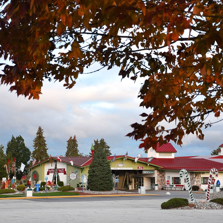 Bronner's Christmas Wonderland Of Frankenmuth, MI In Fall Colors