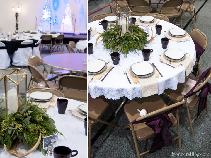 Winter Themed Tablescape