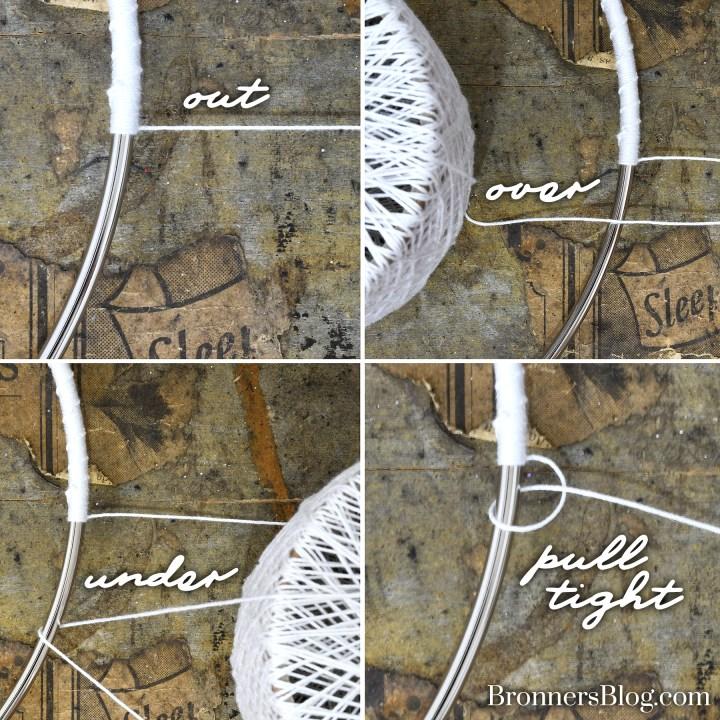 how to wrap metal hoop