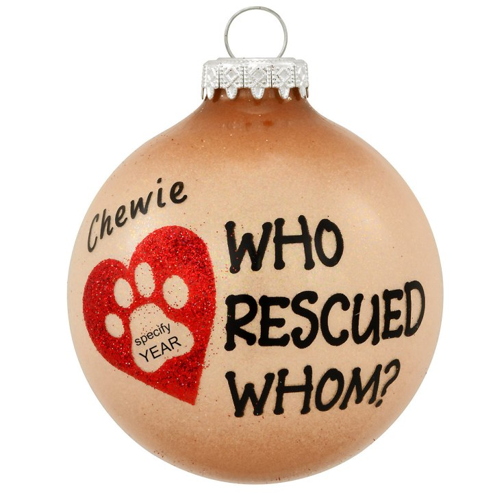 Who rescued whom personalized ornament