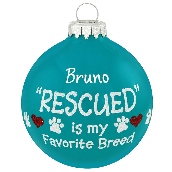 """""""Rescued"""" Favorite Breed Ornament"""