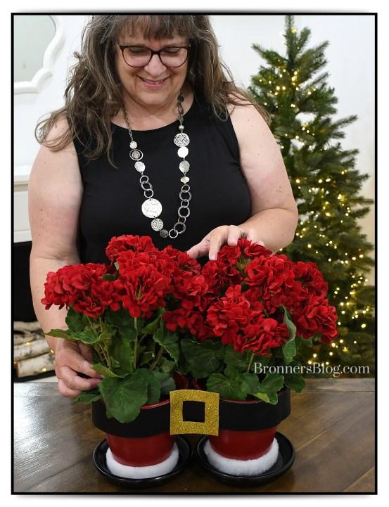 Santa Pants Flower Pots Christmas Décor