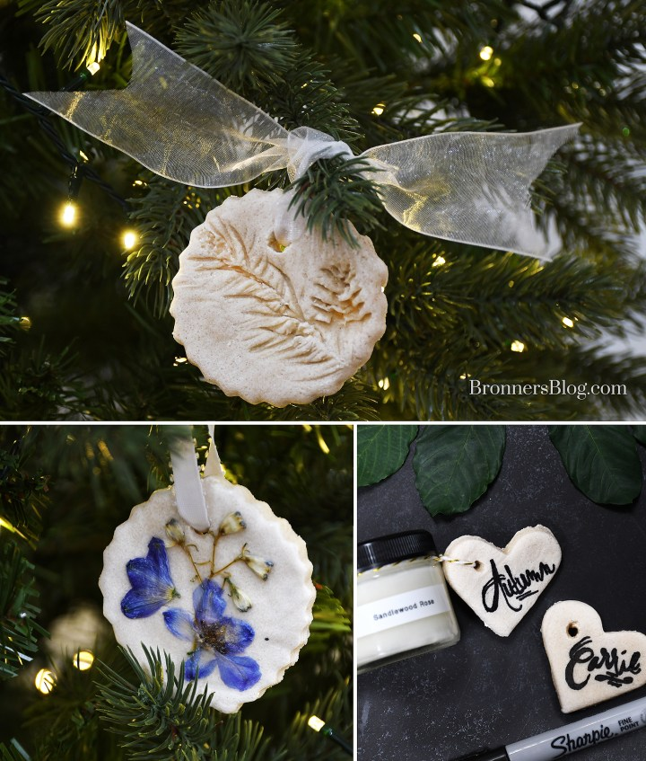 Homemade Salt dough ornaments and gift tags