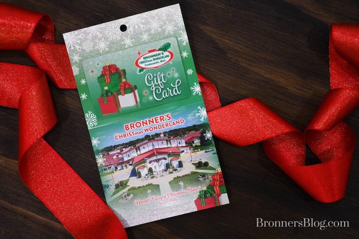 Bronner's Gift Card Stocking Stuffer