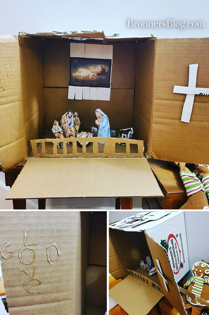 Homemade Nativity Kids Craft From Recycled Bronner's Box