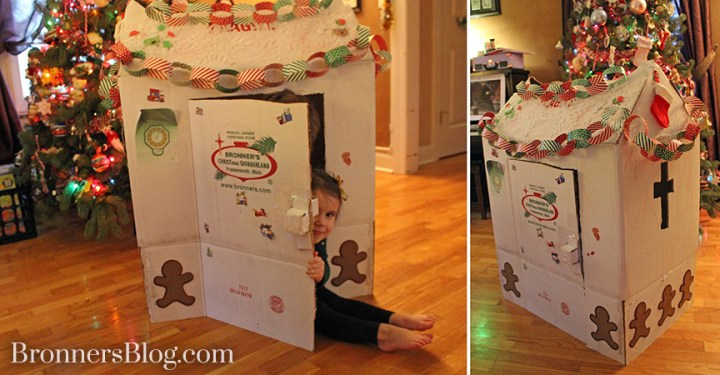 Bronner's Shipping Box Recycled Into A Playhouse