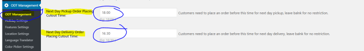 Next day delivery cutoff time - WooCommerce