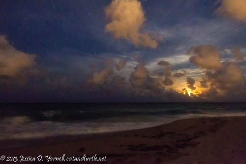 Moonrise over Juno Beach
