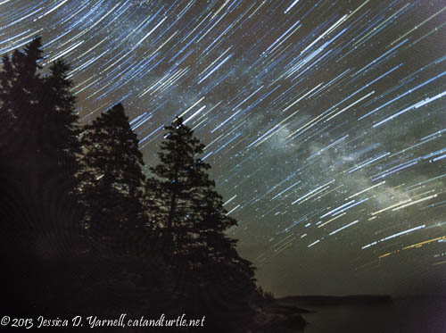 Star Trails Over Maine