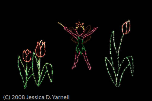 Tinkerbell makes the plants grow with pixie dust