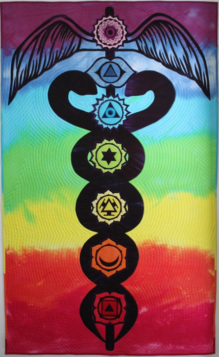 chakra art quilt the Vibrant Path by doris lovadina-lee toronto ontario canada quilter