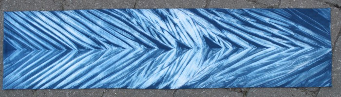 Arashi Shibori table runner