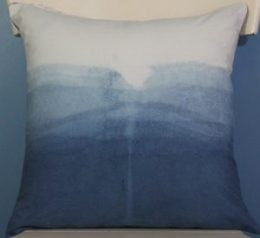 Indigo ombre pillow top