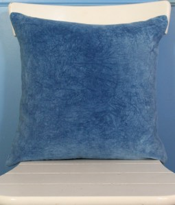 Indigo velvet pillow