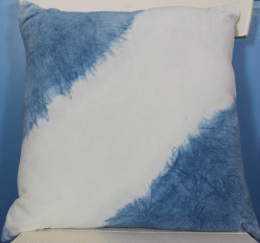 Indigo Velvet dip dyed pillow