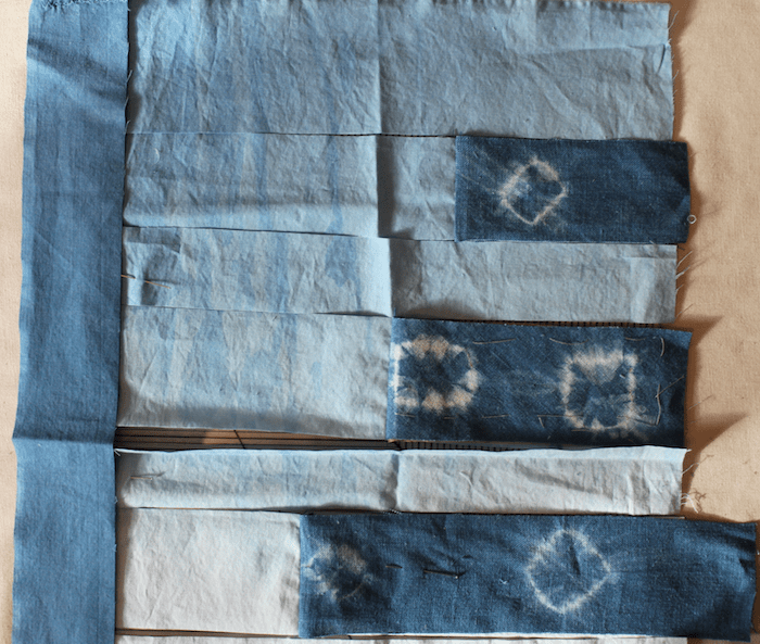Previewing indigo fabrics for the president's challenge
