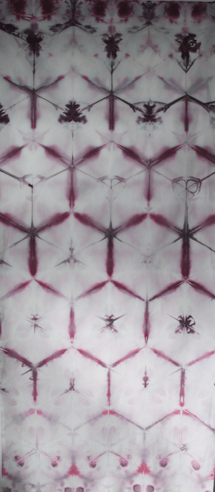 Snow dyed fabric honeycomb