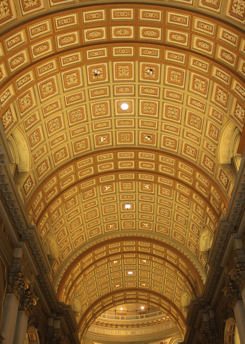 ceiling squares in the Cathedral: Mary, Queen of the World, Montréal