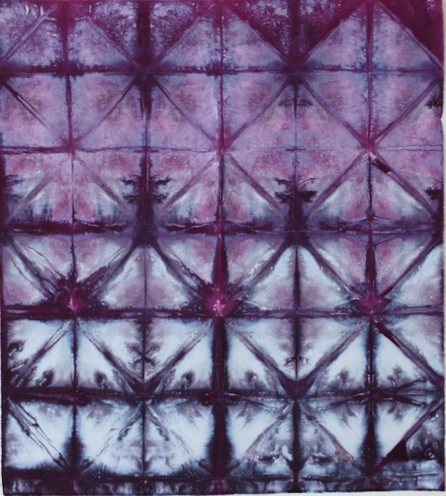snow dyed fabric created by doris lovadina-lee toronto ontario canada