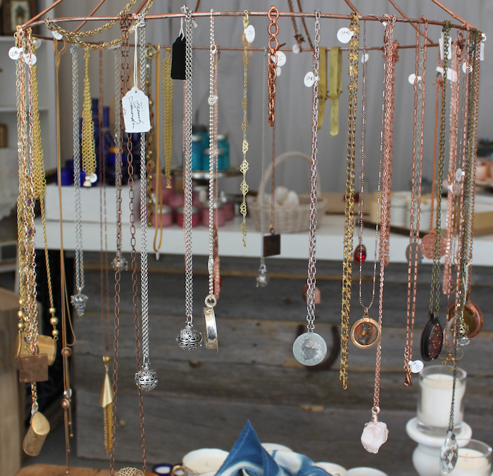urban market at Trillium Park Ontario Place Jewellery display by Peggy Thompson