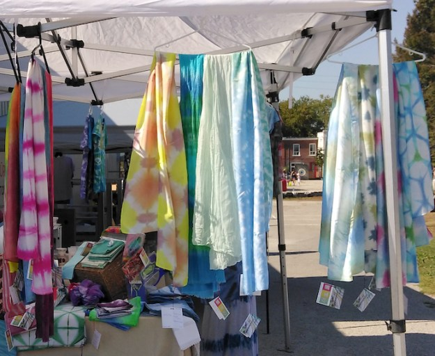 silk scarves by doris lovadina-lee at fall fair kimberley public school toronto