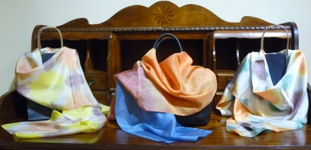 Hand dyed scarves by doris lovadina-lee designs toronto, ontario, canada