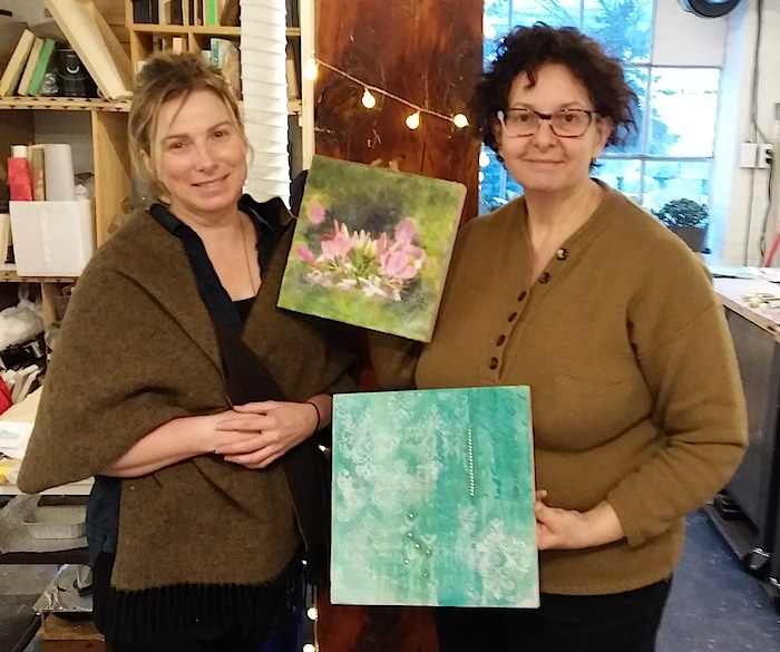 Encaustic wax workshop Ann Shier and Doris Lovadina-Lee toronto Distillery District