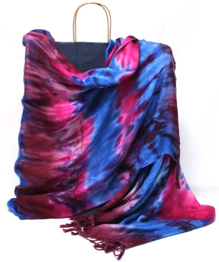 elegant gift for women kumo shibori hand dyed shawl doris lovadina-lee