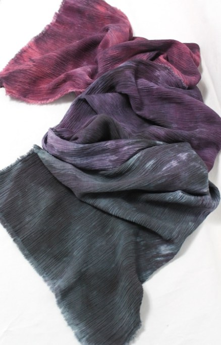 gift for travelling scarf local made toronto canada doris lee purple grey burgundy