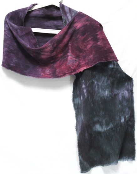 doris lee hand dyed shibori scarves gift for women crinkle linen and rayon