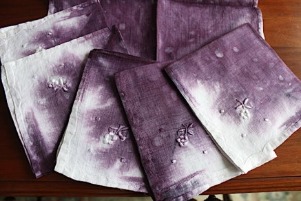 hand dyed vintage cocktail napkins doris lovadina-lee shop online