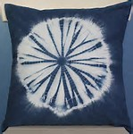 Kumo shibori Indigo dyed pillow hand dyed by doris lovadina-lee