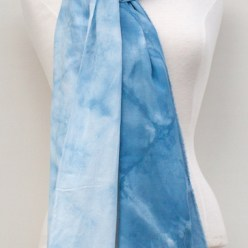 shibori shawl snow dyed by doris lee toronto canada