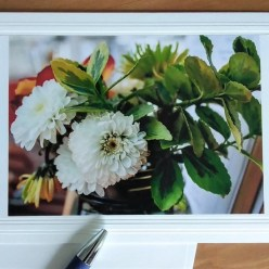 Bouquet of flowers photo taken by doris lovadia-lee on fine art note card