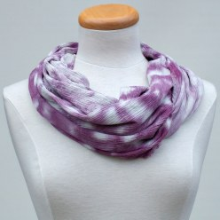purple nui shibori handdyed scarf by toronto artist doris lee