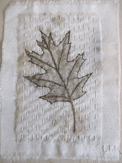 Linda McLaughlin's weekly leaf embroidery 2018