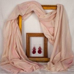 Pink Shell snow dyed scarf or shawl in toronto canada