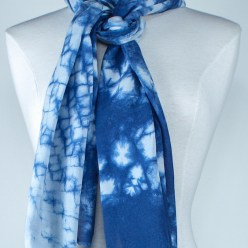 tied indigo scarf made in canada dorislovadinalee.com