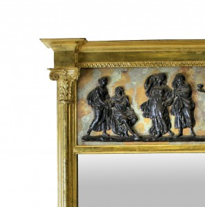 water gilded English Regency pier mirror