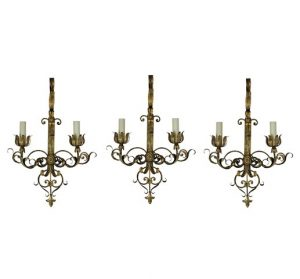 Gilt Metal Sconces