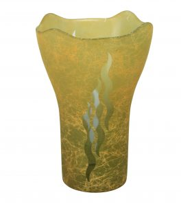 A Murano Vase With Gold Leaf