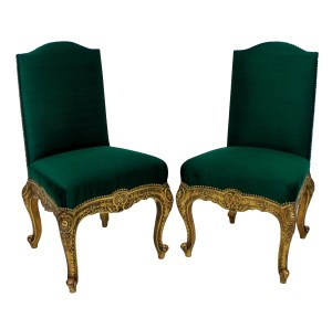 Spanish Gilt Wood Chairs