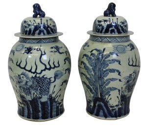 Chinese Temple Jars