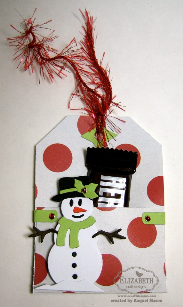 ECD Tag snowman candy treat