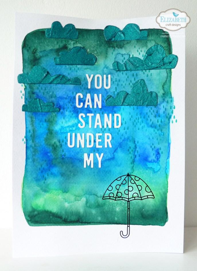 Marsha Valk for Elizabeth Craft Designs | Rainy Day Mixed Media Page