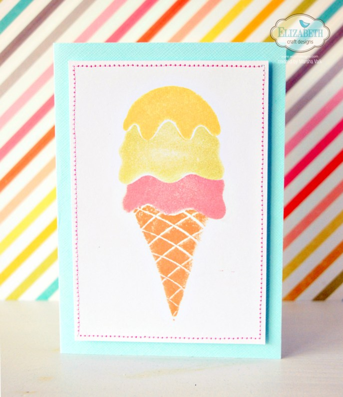 Marsha Valk | Elizabeth Craft Designs: DIY Ice Cream Cone Foam Stamps