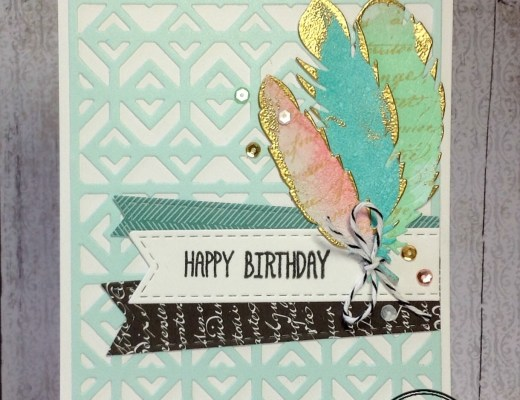 Feather Finery ~ Masculine / Feminine Birthday Cards by Birgit
