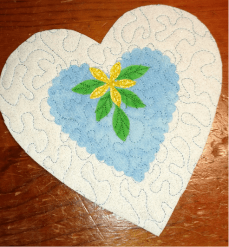 Sewing with Die Cuts - Heart Ornament Sachets 2