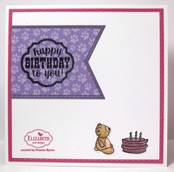 Teddy Bear Picnic Birthday Shaker Card by Frances Byrne